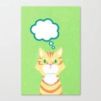 cat 2-British Shorthairs Canvas Print