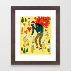 Love distributor Framed Art Print