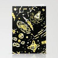 Space Beard Guy Stationery Cards