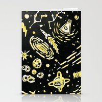 Space Beard Guy Stationery Cards
