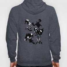 The Avengers Minimal Black and White Hoody