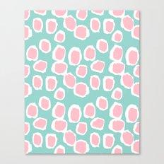 Hayden - abstract trendy gender neutral colorful bright happy dorm college decor pattern print art Canvas Print