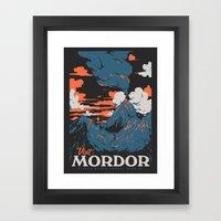 Visit mordor Framed Art Print