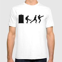 The Tardis Of Silly Walk… Mens Fitted Tee White SMALL