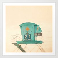 Beach Photograph, Lifegu… Art Print