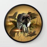Forest Stalker Wall Clock
