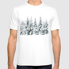 Snow Porn White Mens Fitted Tee SMALL