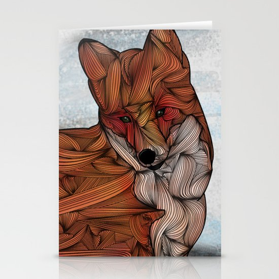 Red Fox Stationery Card