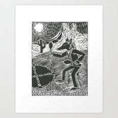 Coyote Dancer  Art Print