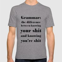 Grammar: The Difference … Mens Fitted Tee Athletic Grey SMALL