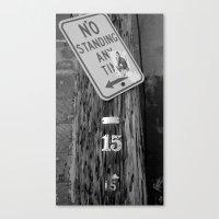 Standing B&W Canvas Print