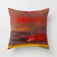 Glossy Crude Throw Pillow