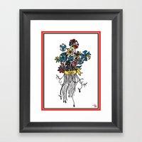 Bouquet - Skal Framed Art Print