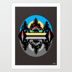 Bear Camp Art Print