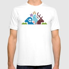 National Park Mens Fitted Tee White SMALL