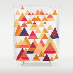 Orange Ranges Shower Curtain