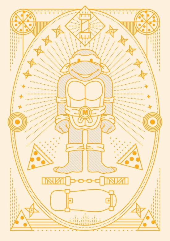Mikey Pizza Jam Art Print