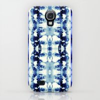 Galaxy S4 Cases featuring Tie Dye Blues by Nina May Designs