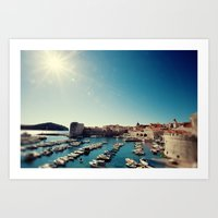 Old Town Harbor - Dubrov… Art Print