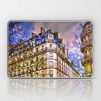 Rainy evening in Paris, France Laptop & iPad Skin