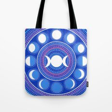 Moon Cycle Mandala Tote Bag