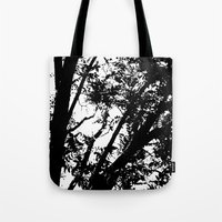 Pecan Tree Silhouette Tote Bag