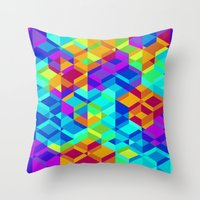 Geometric colour Throw Pillow