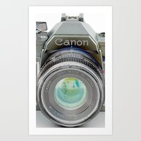 Old Canon AE-1 Camera Art Print