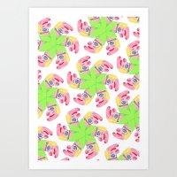 Punchy Colours Art Print