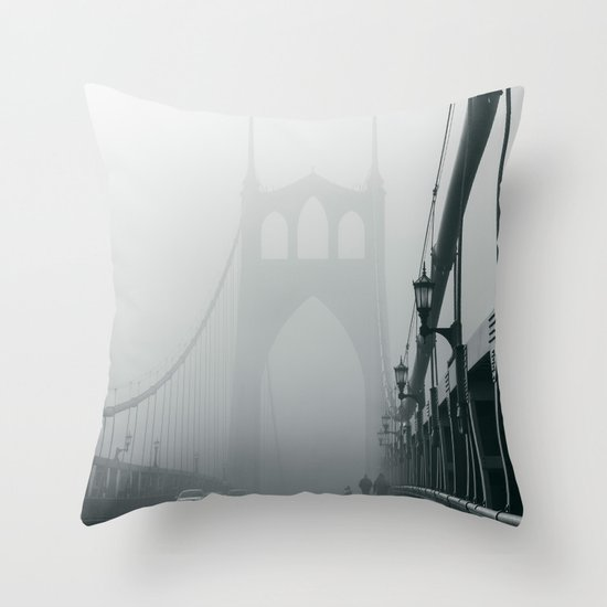 Grey St. Johns Throw Pillow