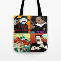 Pop mix of the some of the greats pop culture memories.  Tote Bag