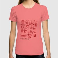 Kitchen Vintage Womens Fitted Tee Pomegranate SMALL