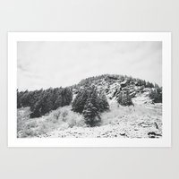 MONTANA BEAUTY in the BLACK & WHITE Art Print