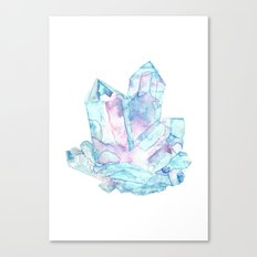 Pink Blue Crystal Cluster Canvas Print