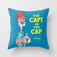 The Capt. In The Cap Throw Pillow