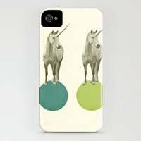 iPhone Cases featuring Unicorn Parade by Cassia Beck