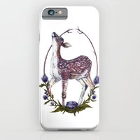 iPhone & iPod Case featuring Fawn and Thistle by Kirsten McNee
