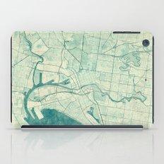Melbourne Map Blue Vinta… iPad Case