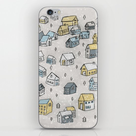 First day of snow iPhone & iPod Skin