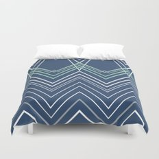 Navy Chevy Duvet Cover