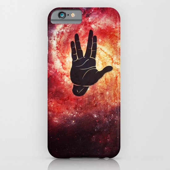 Spocks Hand Galaxy iPhone & iPod Case
