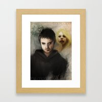 The Master & The BadWolf Framed Art Print