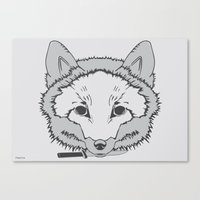Pirate Fox Canvas Print