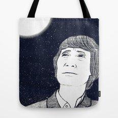 Man and Moon Tote Bag