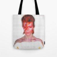 Bowie : Aladdin Sane Pixel Tote Bag