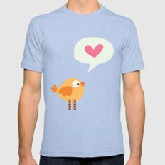 Love Birdie Mens Fitted Tee Tri-Blue SMALL