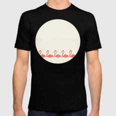 Flamingo Lineup SMALL Black Mens Fitted Tee