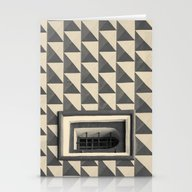 Geometric Old Wall Patte… Stationery Cards