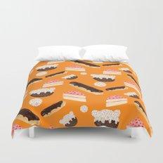 sweet things (on orange) Duvet Cover