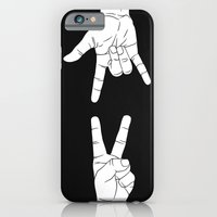 Peace Love and Rock N Roll iPhone 6 Slim Case